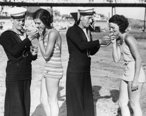 9. Sailors and Jersey Girls on a NJ beach, 1935.