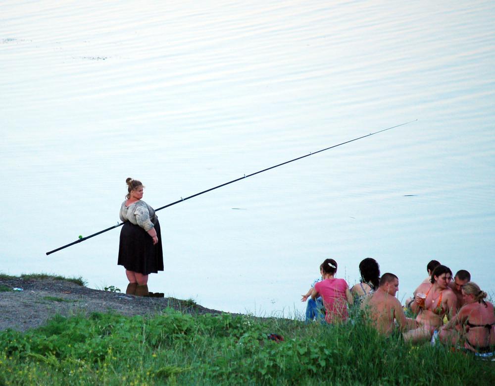 Сентября, смешные картинки баба на рыбалке
