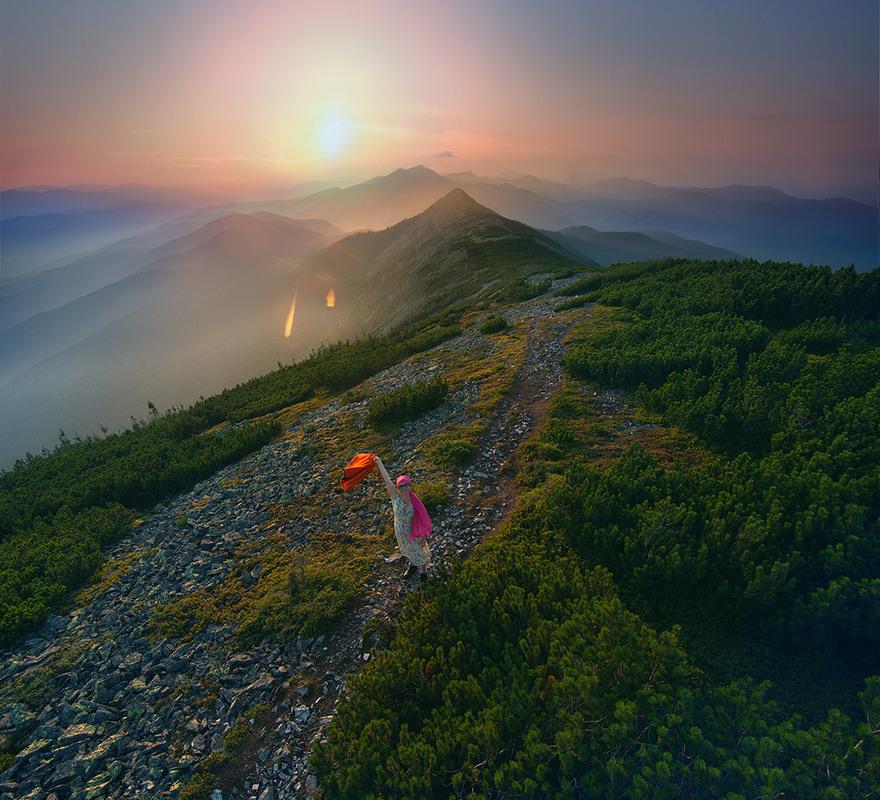 Фотографія Літак, Ґорґани і рожева хустка. / ася оса / photographers.com.ua